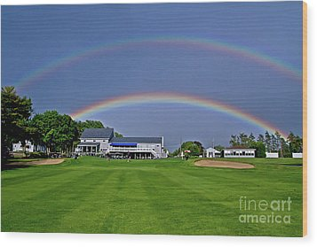 Double Rainbow Wood Print by Butch Lombardi