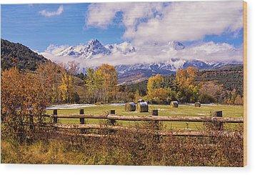 Double Rl Ranch Wood Print