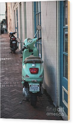 Double Scooters Wood Print by John Rizzuto