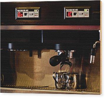 Double Shot Of Espresso Wood Print
