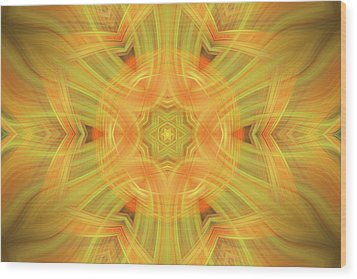 Double Star Abstract Wood Print by Linda Phelps