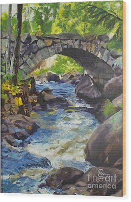 Double Stone Arch Bridge  Wood Print