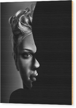 Double Vision Wood Print by Digital Art Cafe
