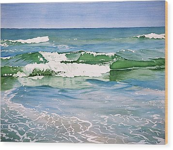 Double Wave Wood Print
