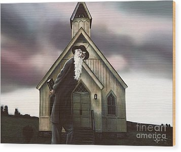 Wood Print featuring the painting Doubt Or Faith by Dave Luebbert