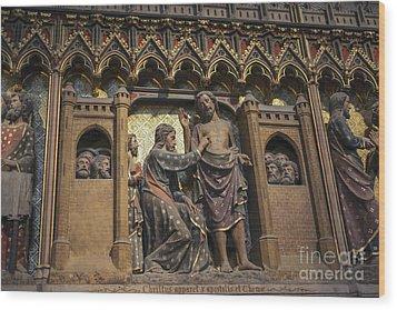 Doubting Thomas Scene Wood Print