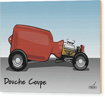 Douche Coupe Wood Print
