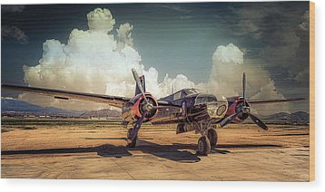 Wood Print featuring the photograph Douglas A26 Invader by Steve Benefiel