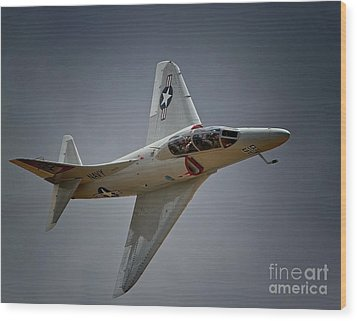Douglas A4 Skyhawk 2011 Chino Planes Of Fame Air Showe Wood Print by Gus McCrea
