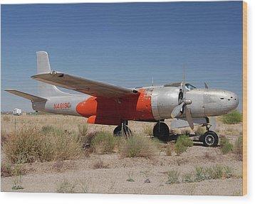 Douglas B-26b Invader N4819e Buckeye Arizona April 29 2011 Wood Print by Brian Lockett