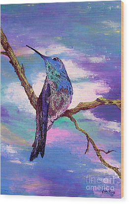 Dougs Hummingbird Wood Print by Lisa Rose Musselwhite