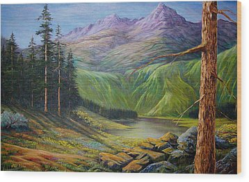Wood Print featuring the painting Doug's  by Loxi Sibley