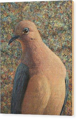 Dove Wood Print by James W Johnson