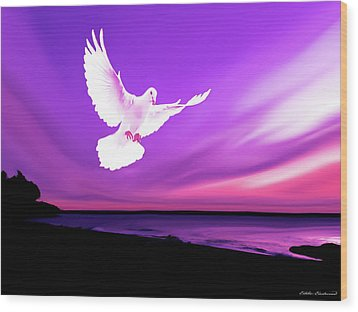 Dove Of My Dreams Wood Print by Eddie Eastwood