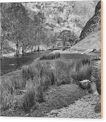 Dovedale, Peak District Uk Wood Print by John Edwards
