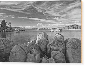 Dowdy Lake In Black And White Wood Print by James Steele