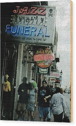 Wood Print featuring the digital art Down At The French Quarter by Saad Hasnain
