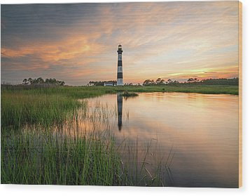 Wood Print featuring the photograph Down In The Swamp by Bernard Chen