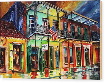 Down On Bourbon Street Wood Print by Diane Millsap
