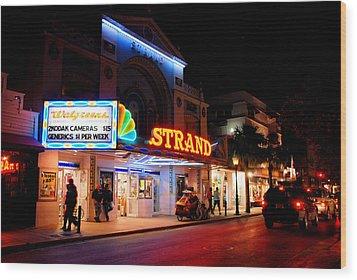 Down On Duval In Key West Wood Print by Susanne Van Hulst