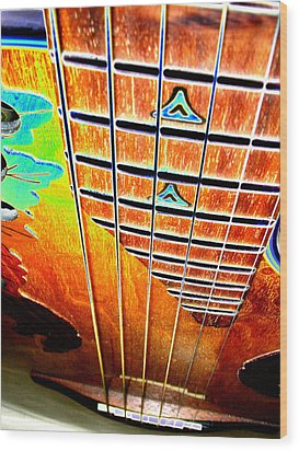 Down The Fingerboard Wood Print by Peter  McIntosh