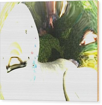 Down The Rabbit Hole Wood Print by Vicki Lynn Sodora