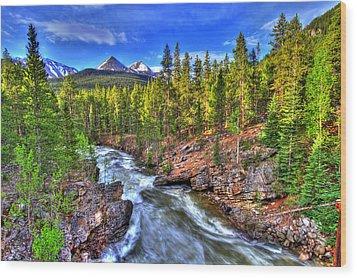 Down The River Wood Print by Scott Mahon