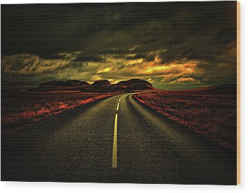 Wood Print featuring the photograph Down The Road by Scott Mahon
