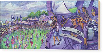 Wood Print featuring the painting Down2funk At Arise by David Sockrider