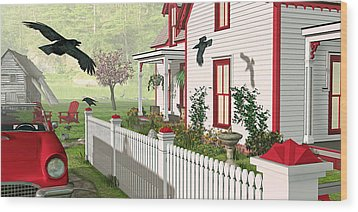 Downeast Morning Wood Print by Peter J Sucy