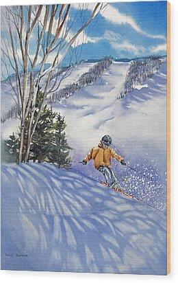 Downhill-rhythm Wood Print by Nancy Newman