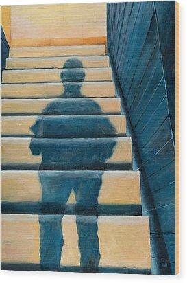 Downstairs Wood Print
