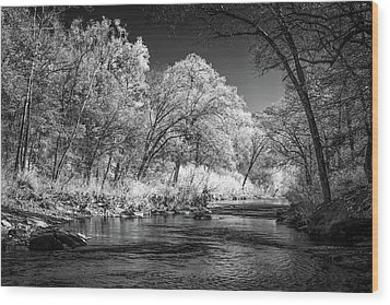 Wood Print featuring the photograph Downstream At Natural Dam by James Barber