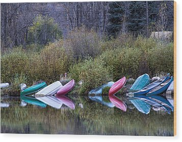 Downtime At Beaver Lake Wood Print by Alana Thrower