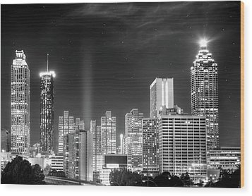 Downtown Atlanta Skyline Wood Print