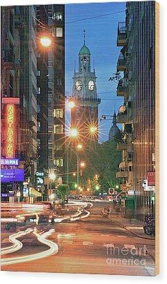 Wood Print featuring the photograph Downtown by Bernardo Galmarini
