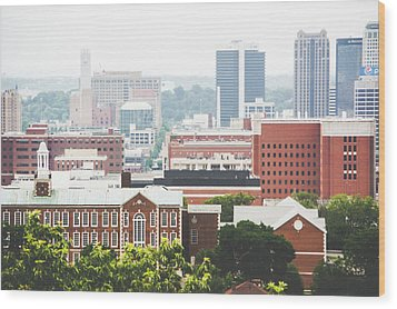 Wood Print featuring the photograph Downtown Birmingham - The Magic City by Shelby Young