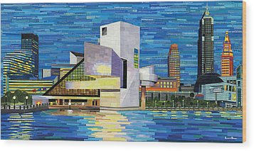 Downtown Cleveland Skyline  Wood Print