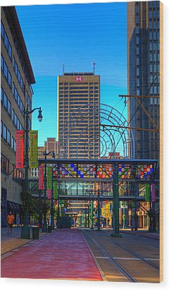 Downtown Color Wood Print by Don Nieman