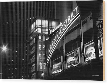 Downtown Columbus Bw1734 Wood Print by Brian Gryphon