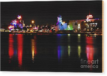 Downtown Disney  Wood Print by David Lee Thompson