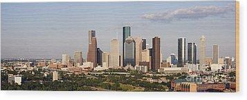 Downtown Houston Skyline Wood Print by Jeremy Woodhouse