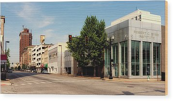 Downtown Huntington West Virginia Wood Print by L O C