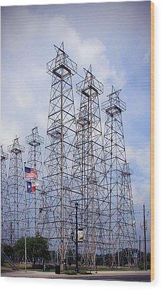 Downtown Kilgore Texas Wood Print by Gayle Johnson