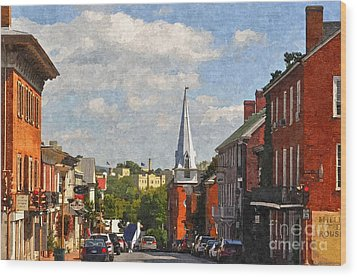 Downtown Lexington 3 Wood Print