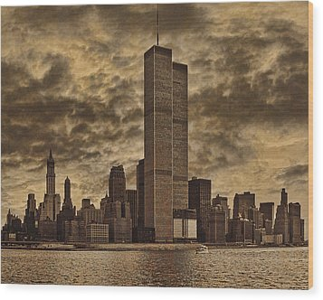 Downtown Manhattan Circa Nineteen Seventy Nine  Wood Print
