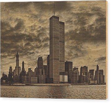 Downtown Manhattan Circa Nineteen Seventy Nine  Wood Print by Chris Lord