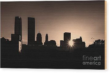 Wood Print featuring the photograph Downtown Oklahoma City by Betty LaRue