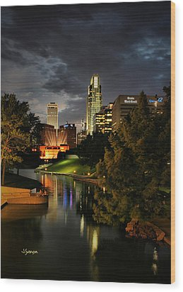Downtown Omaha Wood Print