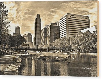 Downtown Omaha Nebraska Wood Print